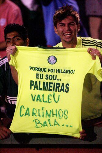 Torcedor do Palmeiras provoca o rival Corinthians, que perdeu o título da Copa do Brasil para o Sport