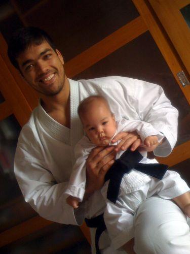 Lyoto Machida com seu filho Taiyo