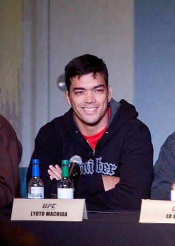Brasileiro Lyoto Machida durante entrevista coletiva no UFC