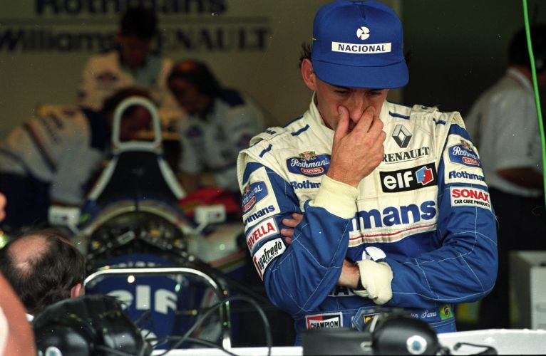 Senna na Williams, última equipe que ele pilotou na carreira