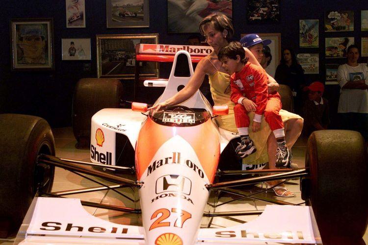 Viviane Senna, presidente do Instituto Ayrton Senna, durante abertura da exposição