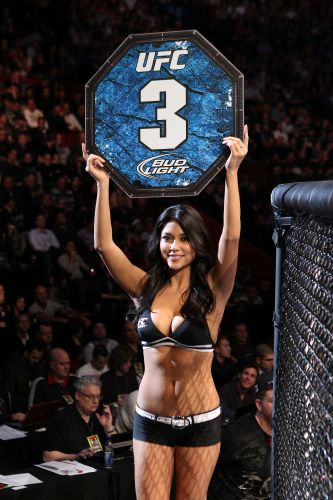 Ring Girl Arianny Celeste tambm marcou presena no UFC 124, no Canad