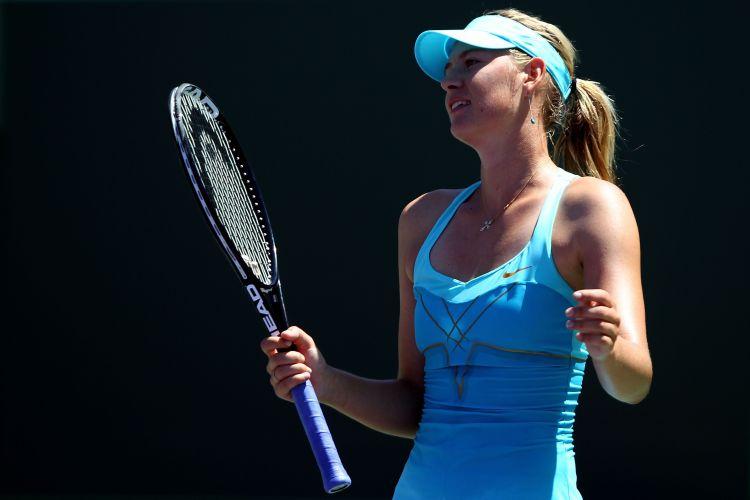 Maria Sharapova lamenta ponto perdido durante a derrota para a Victoria Azarenka na final em Miami por 2 sets a 0, com parciais de 6-1 e 6-4