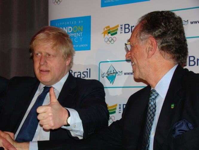 Nuzman com o prefeito de Londres, Boris Johnson
