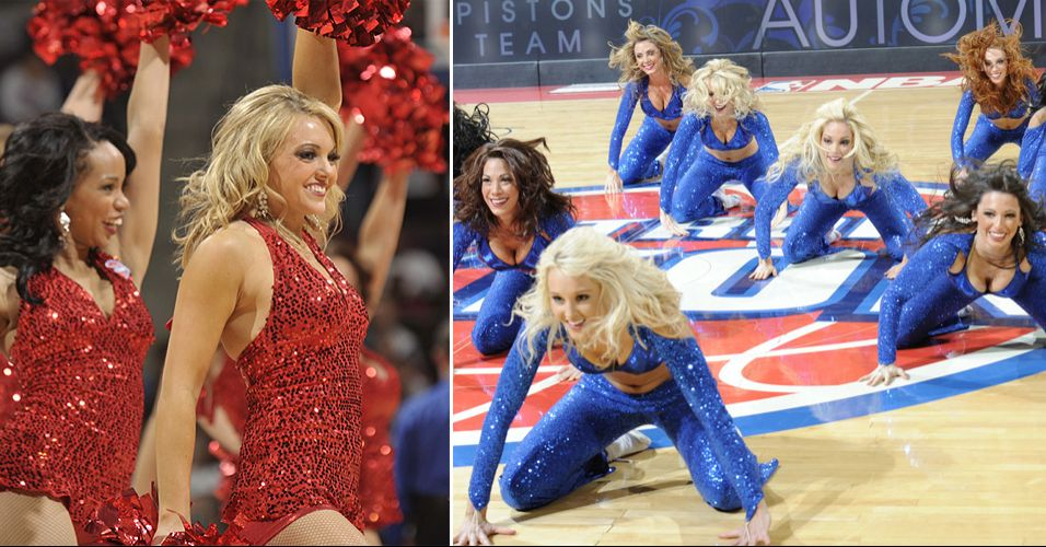 O time de dançarinas do Detroit Pistons não conquistou a preferência popular. Acabou eliminado logo em seu primeiro confronto no torneio de cheerleaders da NBA, contra as meninas do Chicago Bulls