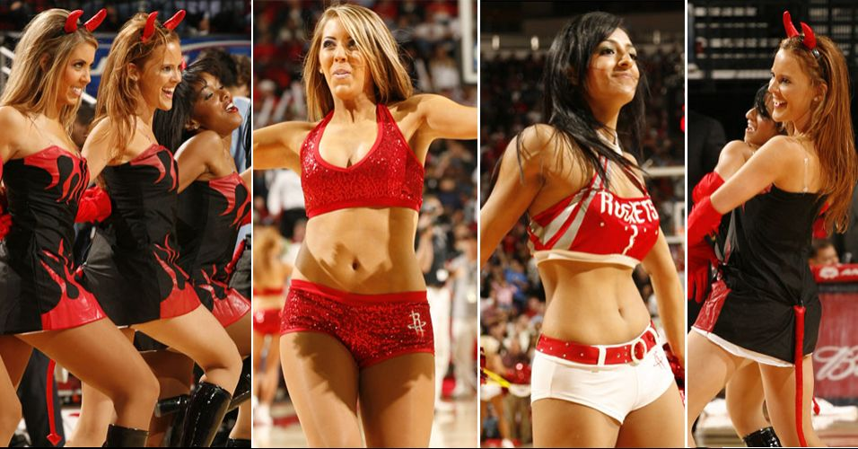 As endiabradas meninas de Houston duraram pouco no torneio de cheerleaders da NBA. Enfrentaram logo de cara o Sacramento Kings, que terminou com o vice-campeonato, e acabaram eliminadas na primeira rodada