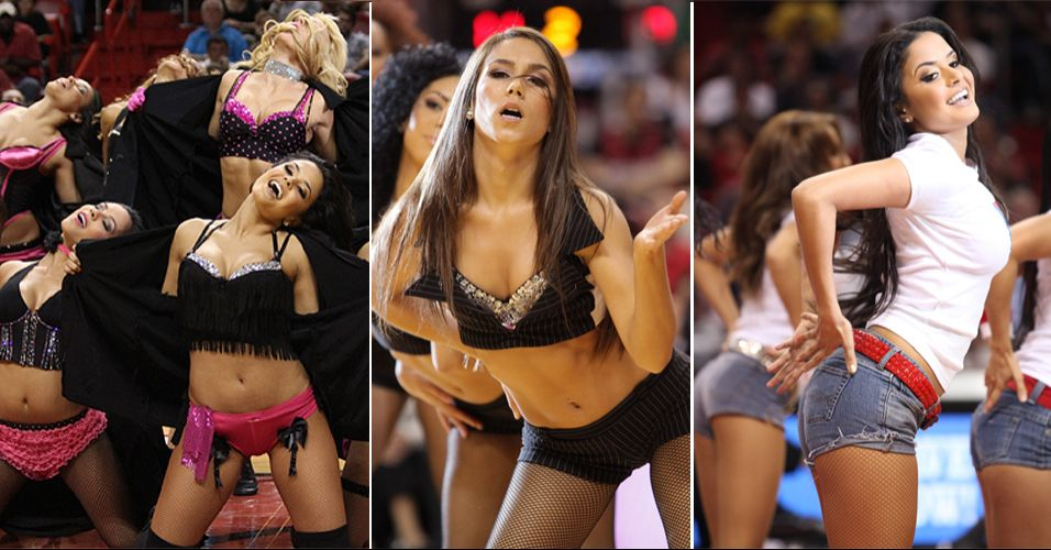 Donas de quatro ttulos em seis edies, as cheerleaders do Miami Heat mostraram todo o seu talento, mas caram na segunda rodada do concurso promovido pela NBA. Venceram o Boston Celtics na estreia, mas foram eliminadas contra as bicampes dos Bobcats