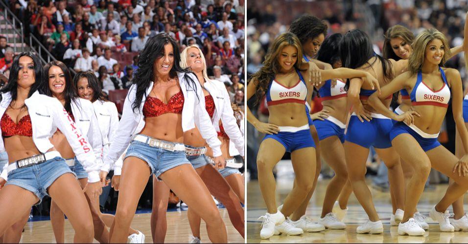 Ousadas e animadas, as dançarinas da Filadélfia ainda não conquistaram o coração do público. No concurso de cheerleaders realizado pela NBA, foram eliminadas na primeira rodada em confronto com as meninas dos Wizards