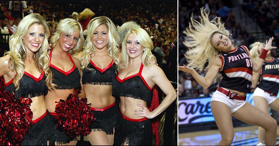 As meninas de Portland duraram pouco no torneio de cheerleaders da NBA. Caíram na primeira rodada, eliminadas pelas populares dançarinas do Los Angeles Lakers