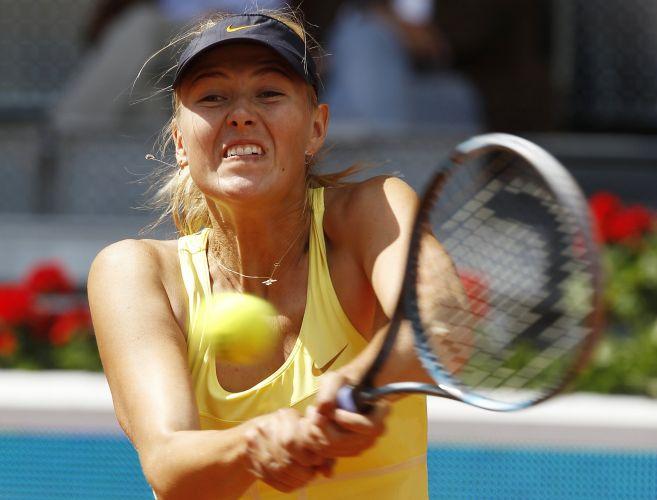 Maria Sharapova admitiu que teve atuação irregular contra Ekaterina Makarova. Apesar disso, ela conseguiu derrotar a compatriota por por 2 sets a 1 (parciais de 6-3, 3-6 e 6-1) e se classificou para a terceira rodada do Torneio de Madri