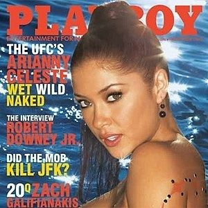 Capa da playboy com a musa do UFC Arianny Celeste
