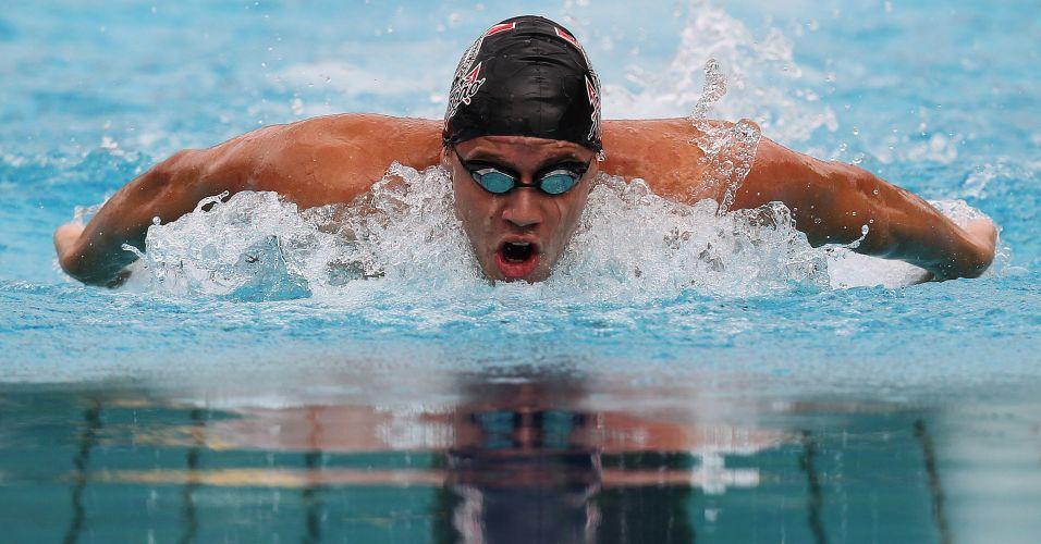 Thiago Pereira venceu a prova dos 400 m medley no Troféu Maria Lenk e conquistou seu terceiro ouro na competição