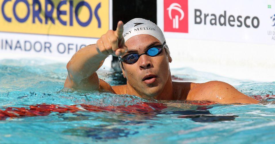 Kaio Márcio venceu a prova dos 100 m borboleta no Troféu Maria Lenk, com índice para o Mundial de Xangai em julho