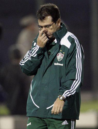 Técnico Ederson Moreira lamenta a derrota que custou a eliminação do Fluminense na Copa Libertadores
