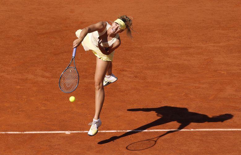 Maria Sharapova nunca foi campeã de Roland Garros, e busca em 2011 seu primeiro título. Já está nas oitavas de final.