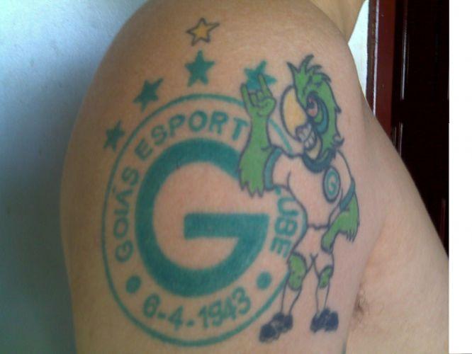 Bruna Hernandes Pereira tatuou o escudo do São Paulo em 2010 para reforçar a paixão pelo clube que aprendeu com o pai