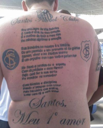 Daniele Marques Moura fez sua tatuagem em agosto de 2008 para cumprir promessa pelo título paulista conquistado pelo Palmeiras