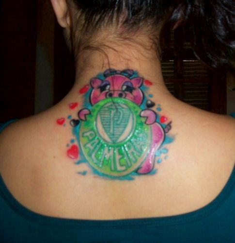 Windsor Cavicchia tatuou os escudos do Corinthians em outubro de 2008