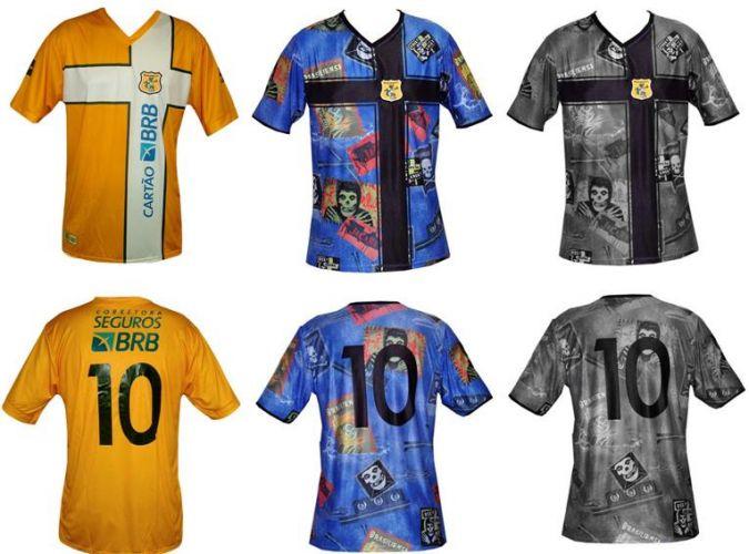 0efb6337c142d O Brasiliense quis homenagear o Dia do Rock em 2010 e colocou caveiras em  sua camisa. O resultado foi este Divulgação Mais  Paraná Clube