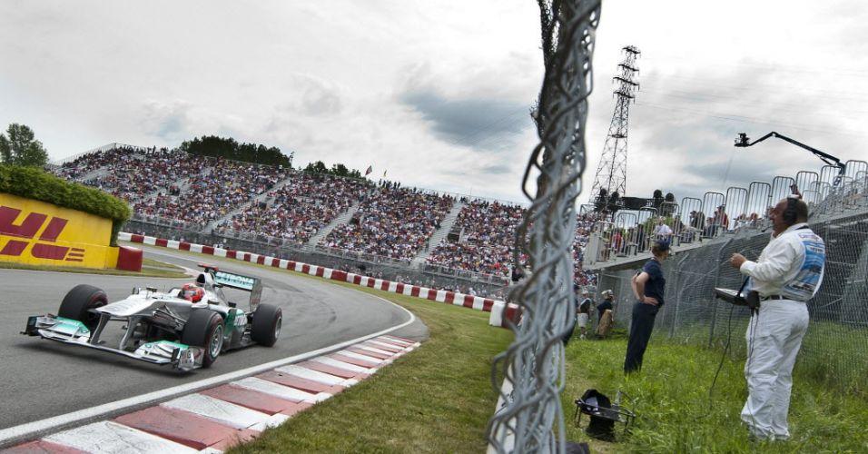 Michael Schumacher volta a correr em Montréal, no Grande Prêmio do Canadá, com o carro da Mercedes