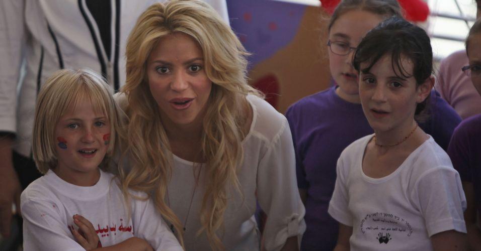 Shakira foi a grande atração para a criançada
