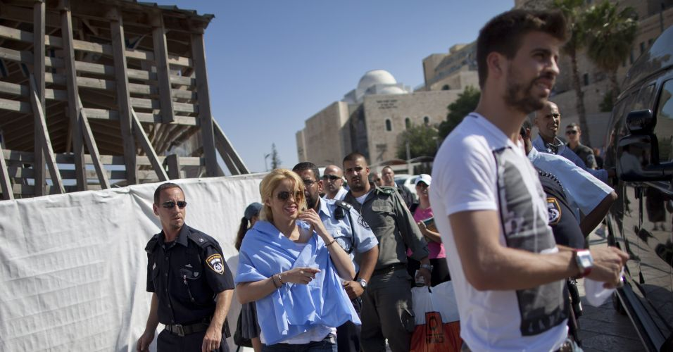 Shakira e Piqué visitaram locais históricos em Israel