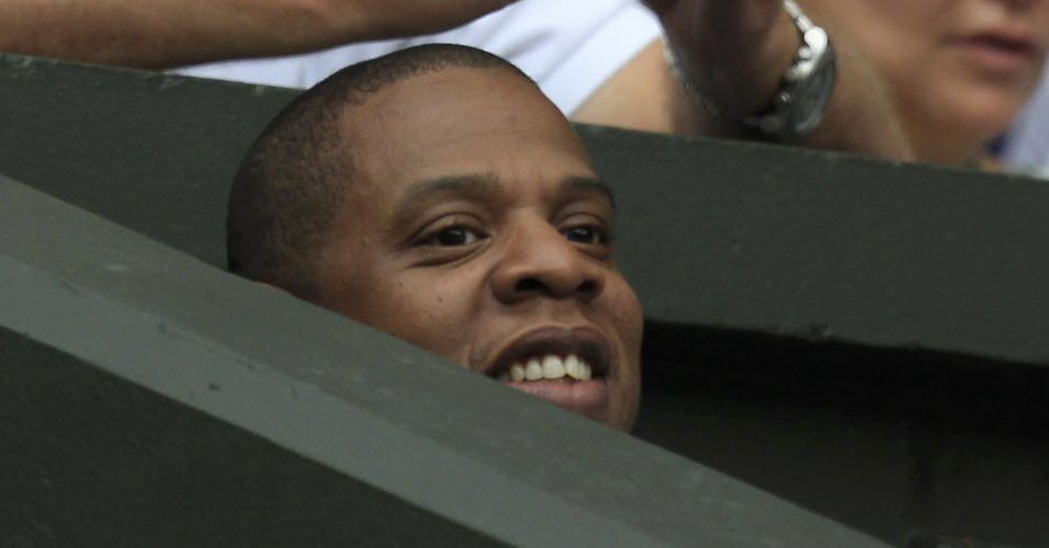 Rapper Jay-Z acompanha a partida entre o espanhol Rafael Nadal e o argentino Juan Martin Del Potro