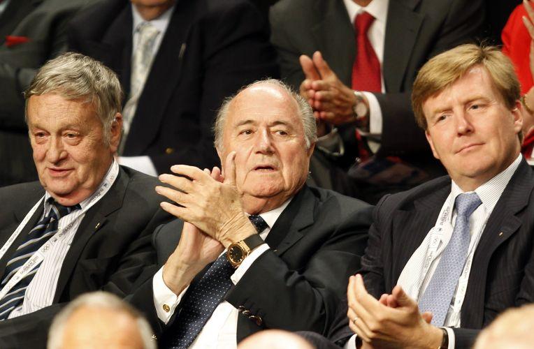 Joseph Blatter, presidente da Fifa, foi a Durban (África do Sul) para acompanhar a escolha da sede dos Jogos Olímpicos de Inverno em 2018