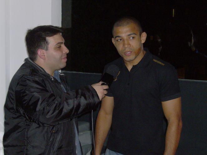 José Aldo foi um dos lutadores da marca que estiveram no evento, na terça-feira