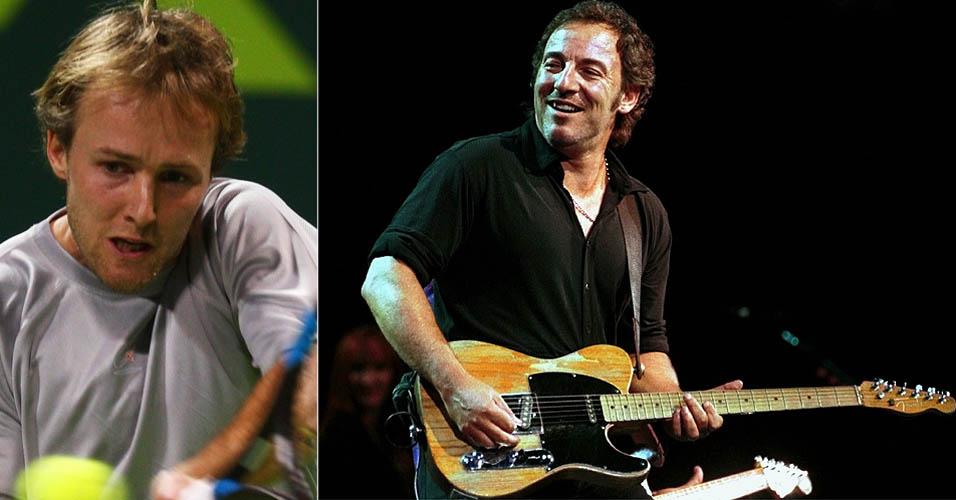 O experiente Christophe Rochus, ex-top 50 da ATP, também declara sua admiração à música do cantor norte-americano Bruce Springsteen