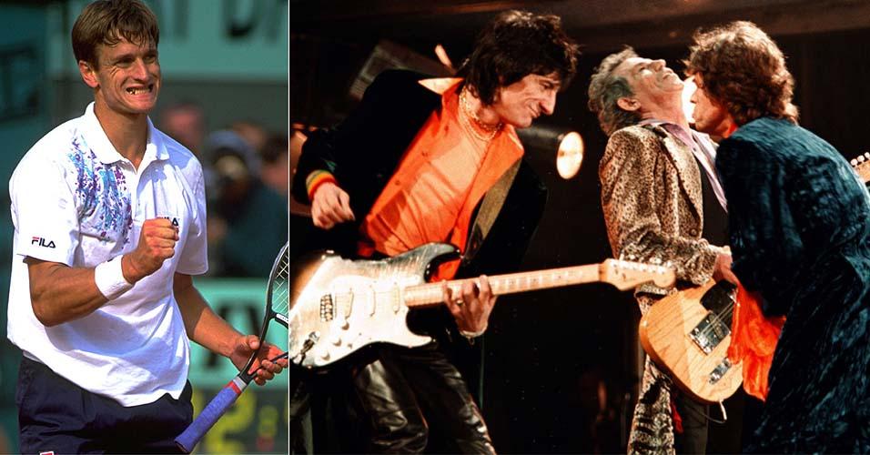 Mais conhecido atualmente por ser empresário de Rafael Nadal, o ex-top 10 Carlos Costa é um dos fãs do Rolling Stones