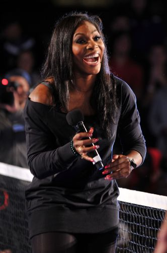 Serena Williams participa de evento da Nike no Pier 54 na véspera do Aberto dos Estados Unidos de 2010, no dia 25 de agosto