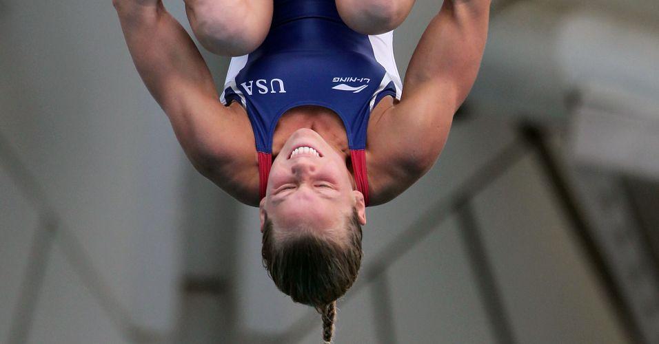 Brittany Viola, dos Estados Unidos, na final da plataforma 10 m