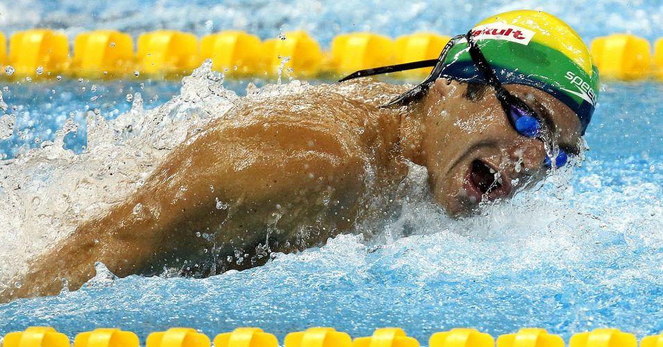 Kaio Márcio ficou com a 14ª colocação dos 200 m borboleta, com 1min56s92, e avançou às semifinais