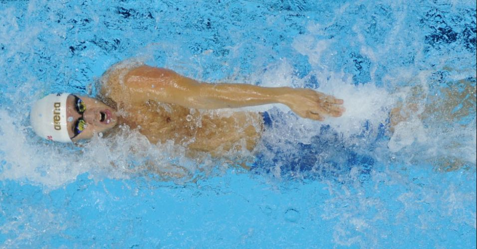 Thiago Pereira consegue a classificao para a final dos 200 m medley com o quinto tempo