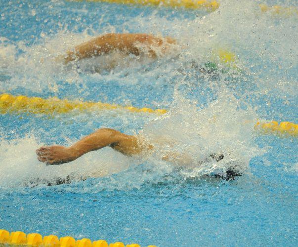 Cesar Cielo foi o mais rápido na final dos 50m livres no Mundial de Esportes Aquáticos em Xangai (China). Brasileiro conquistou a medalha de ouro com o tempo de 21s52