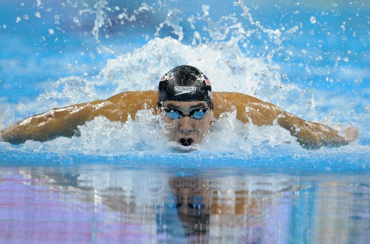 Michael Phelps conquistou a medalha de ouro nos 100m borboleta no Mundial de Esportes Aquticos em Xangai. Norte-americano fez o tempo de 50s71