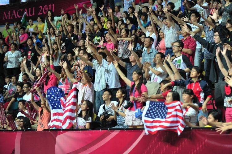 Torcida americana marcou presença em Macau para prestigiar a seleção local