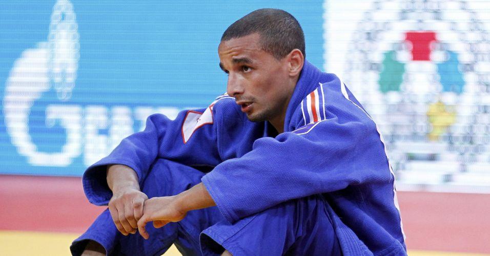 Issam Nour, da França, não chorou, mas ficou perto das lágrimas ao ser eliminado da chave dos 60kg. Ele foi o um dos primeiros franceses a perder no Mundial de Paris