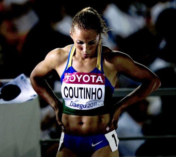 A brasileira Geisa Coutinho após passar pelas quartas de final dos 400 m no Mundial de atletismo de Daegu, na Coreia do Sul