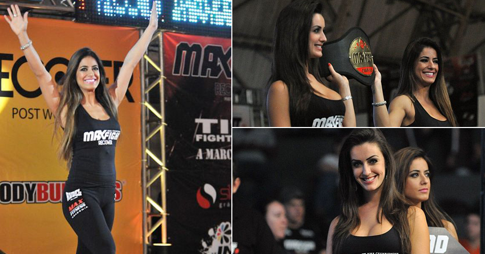 Max Fight :Belas morenas do Max Fight mostram cinturo do evento; vote no evento que tem as melhores ring girls