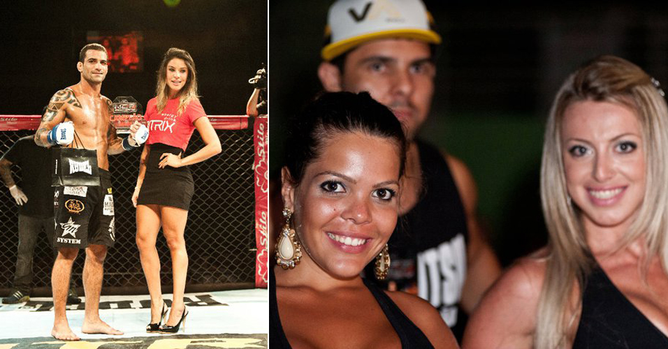 Nitrix: Modelo Piu Piu participa do evento Nitrix como ring girl; somando-se ao grupo de ex-Panicats que trabalha com o MMA