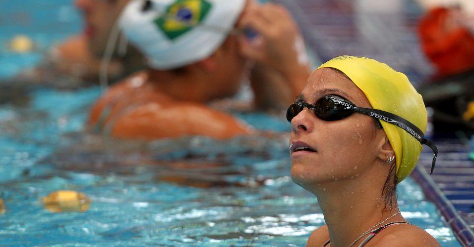 A nadadora brasileira Daiene Dias se prepara para o Pan, em San Luis do Potosi