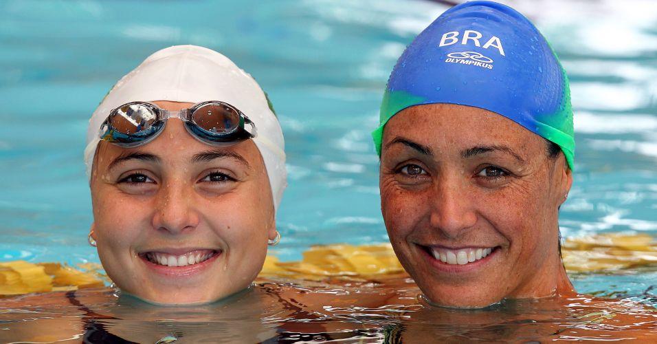 Fabíola Molina (dir) disputará o seu quinto Pan-Americano, enquanto Gabriela Rocha fará sua estreia na competição