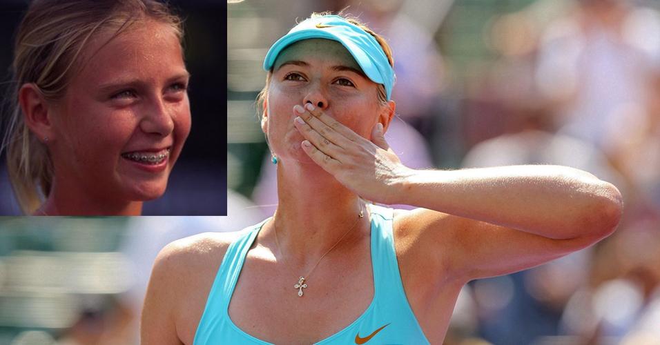 Maria Sharapova parou de usar seu aparelho nos dentes, virou uma das musas do tênis e alcançou o número um do ranking mundial