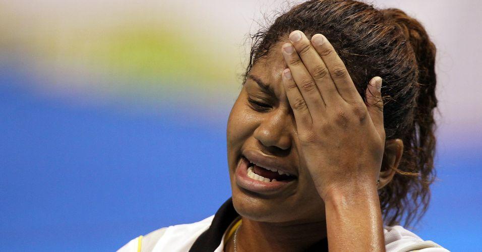 Lohaynny Vicente lamenta erro durante sua partida de estreia pelos Jogos Pan-Americanos