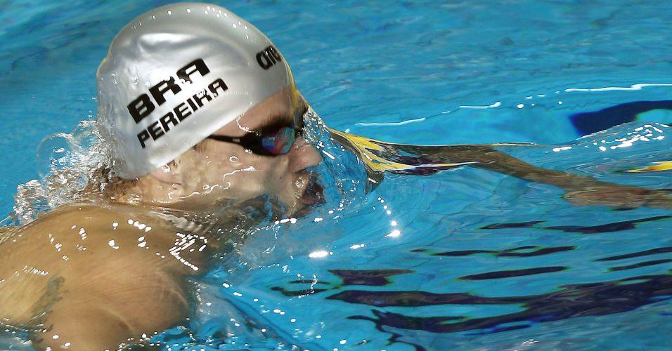 Thiago Pereira vence disputa dos 400m medley para conquistar a medalha de ouro em Guadalajara