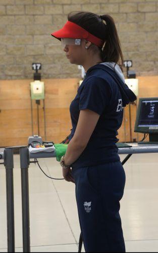 Aos 20 anos, Thais Moura fez sua estreia em Jogos Pan-Americanos. Em Guadalajara, a atleta do tiro terminou na 14ª colocação na disputa da pistola de ar 10 metros