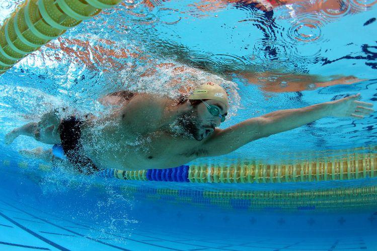 André Schutz e toda a equipe da natação brasileira fazem preparação para o Pan-Americano de Guadalajara no CT de La Loma, no México