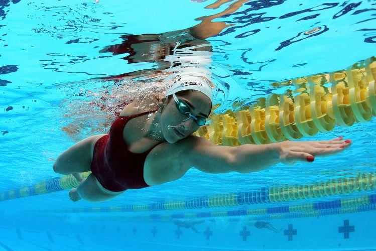Daynara de Paula e toda a equipe da natação brasileira fazem preparação para o Pan-Americano de Guadalajara no CT de La Loma, no México